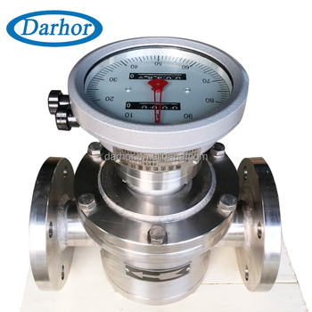 mechanical counter type heavy oil flowmeter crude palm oil flow meter