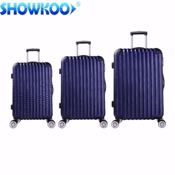 2017 Popular <strong>abs</strong> 3 piece sets <strong>abs</strong> pc hard shell case travel trolley luggage