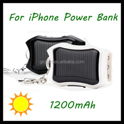 Portable Mobile Solar Charger for iPhone 6 Plus with LED Lights