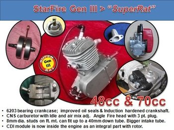 70cc Super Rat Bicycle 2 stroke engine kit