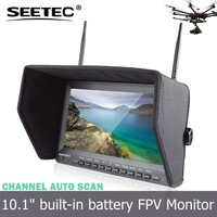 "10.1"" fpv lcd monitor aerail video screen dual diversity receivers channel auto searchign explorer helicopter"