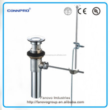 1 1/4'' Brass Pop-up lavatory Drain polished & chrome plated complete assembly ,sink Drain
