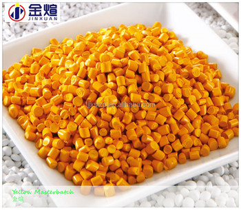 PE / PET / ABS / PP Yellow Masterbatch, Plastic Masterbatch for Pipe Bag Bucket, Color Pigment for Plastic