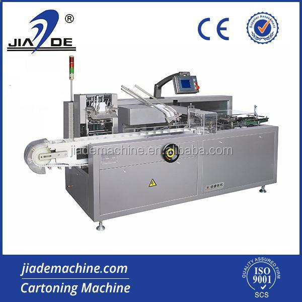 JDZ-100 Automatic Carton Box Packing Machinery For Tube/Toothpaste/Ointment