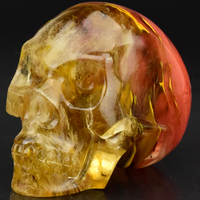 Hottest Healing Multi-colored Obsidian carved human skull head for sale