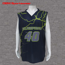 Reversible New design 100% polyester basketball Jersey