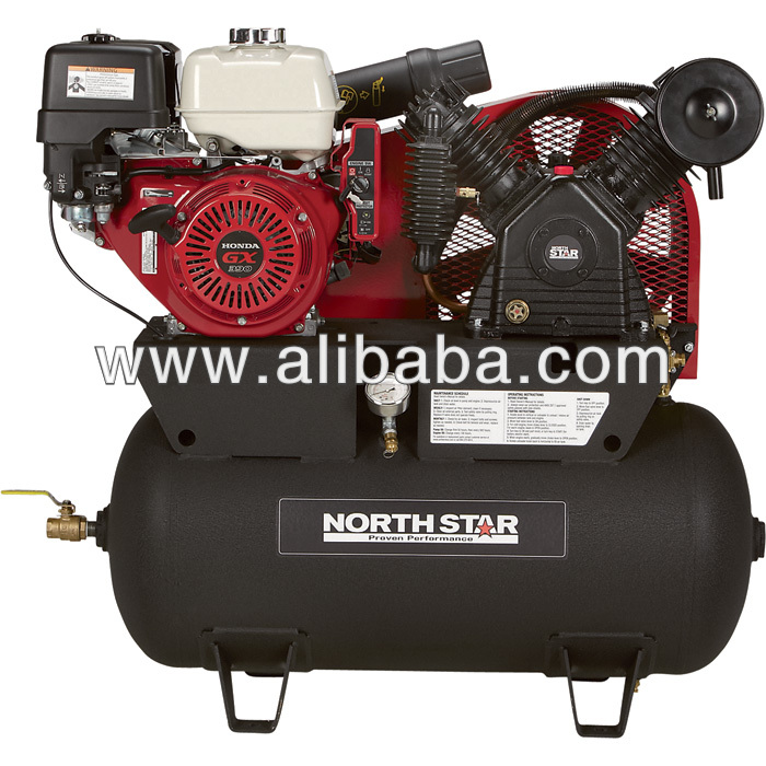 NorthStar Portable Gas-Powered Air Compressor - Honda GX390 OHV Engine, 30-Gallon Horizontal Tank, 24.4 CFM 90 PSI