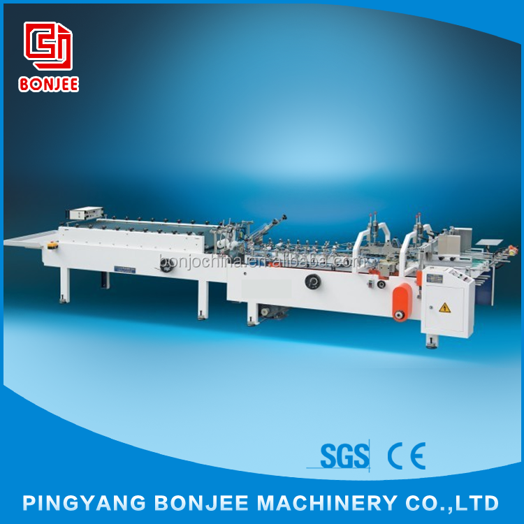 Bonjee White Colour Automatic Folding French Fries Carton Box Gluing Machine