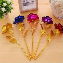 25cm Valentine's Day Women's Gift 24K Gold Plated Rose Flower Decoration Artificial Flowers For Mother's Day Friend Christmas