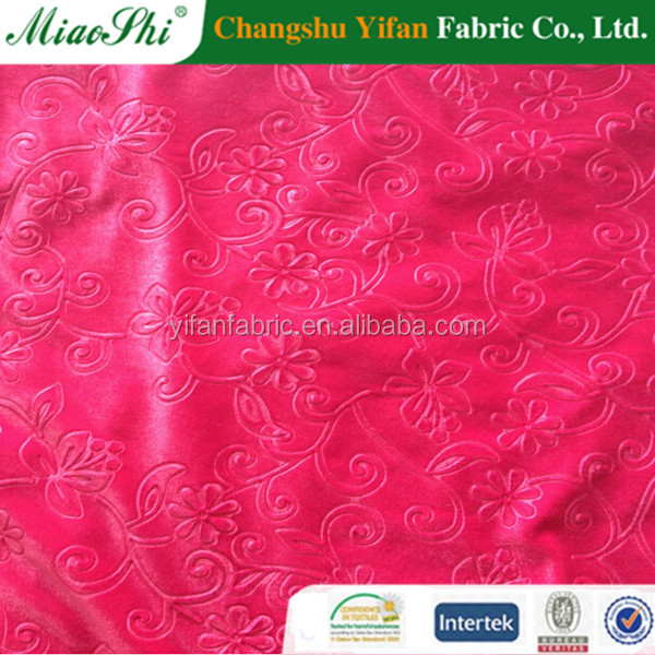 Warp knitting 3D embossed korea velour fabric form China Alibaba supplier