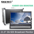 "Live Broadcast 21.5"" IPS Panel Aluminum Metal Case High Resolution 1920x1080 Desktop HDMI Monitor with SDI HDMI YPBPR AV"