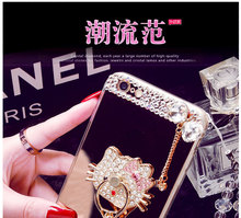2017 smart mirror hello kitty wholesale crystal mobile phone case for VIVO X7 bulk buy from China