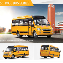 LHD / RHD 6 - 7m 30 Seats China Diesel Old Mini School Buses For Sale