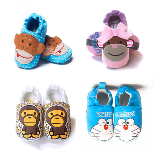Spring And Autumn Baby Shoes Baby Walking Soft Sole Baby Shoes Pure Cotton Kitty Powder Cat