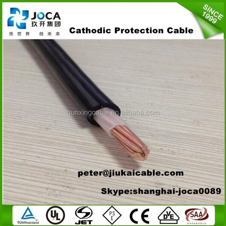 600V High Temperature Cathodic Protection Red HMWPE Cable