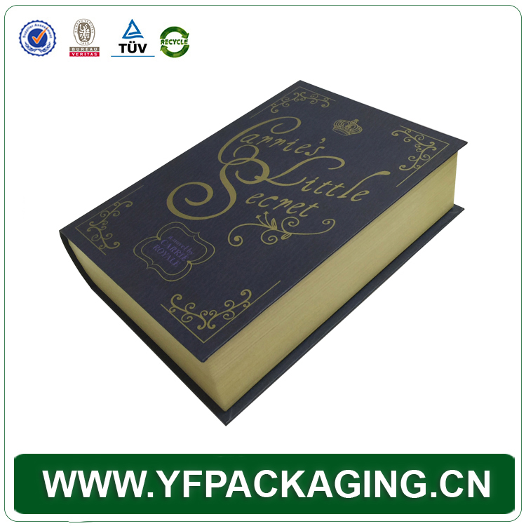 Luxury Paper Board Book Style Packaging Box With Cardboard Magnetic Packing And Rigid Black Box for Gift