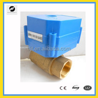 DN25 AC24V Full Port Brass Mini Electric motor Valve for Solar thermal,under-floor,rain water,irrigation,plumbing service