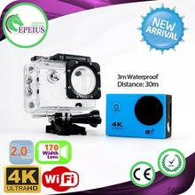16M Pixel F60 WIFI CAMERA action camera 4k comparison HD Fish Eyes Lens Sports Camcorder