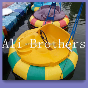 Electric Water park Inflatable water bumper boat for sale.Kiddie rides water bumper boat