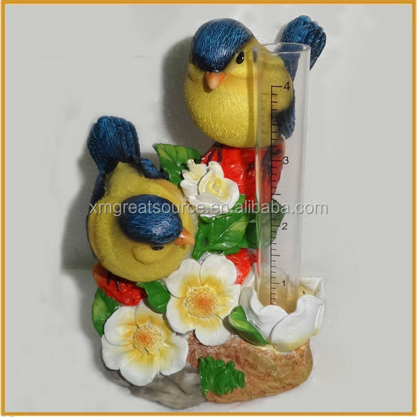 hotsale resin bird for garden decor polyresin birds