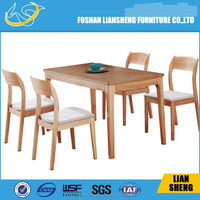 White oak solid wood dining table / Nordic contemporary and contracted environmental square table