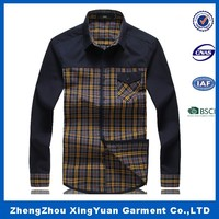 Mens plaid shirt for party business V check collar long sleeve plaid shirt latest dress designs man shirts