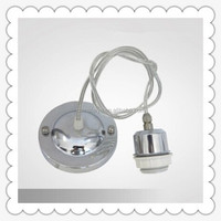 Metal Covered Light Bulb Socket and Cloth Covered Cord