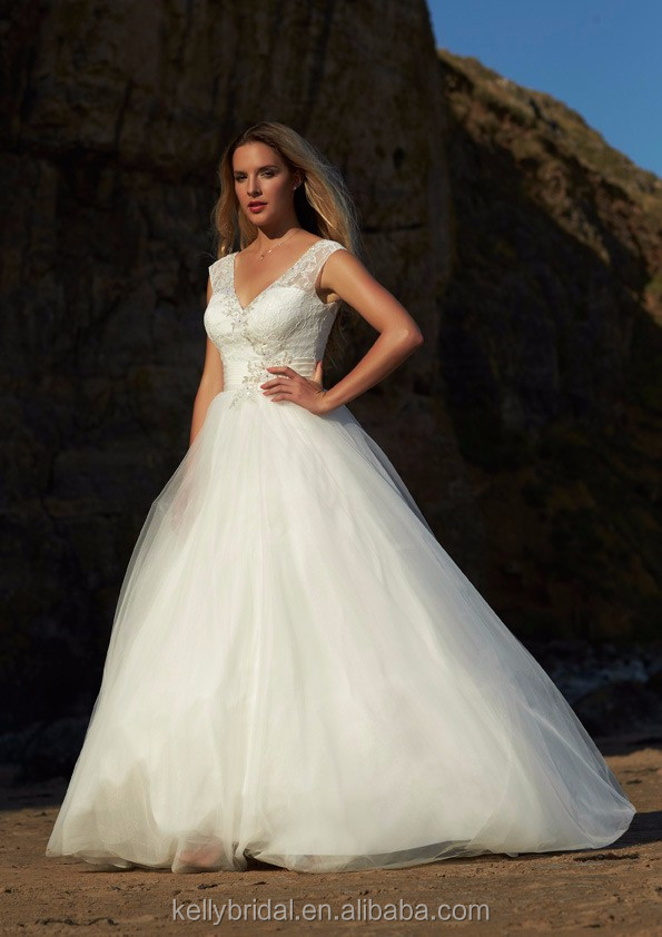 Zm16148 Elegant Western Style Wedding Dresses Lace Plus Size Ball ...