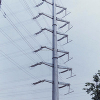 Galvanized Steel Power Pole