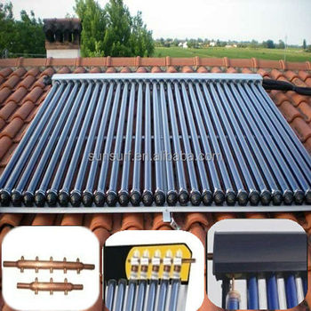 Solar Keymark SRCC CE ISO High Pressure Heat Pipe Vacuum Tube Solar Collector for Flat Roof