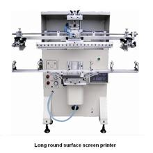 vacuum table screen printing machine on round object