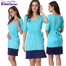 MamaLove Fashion Autumn Maternity Clothes Maternity Dress Nursing clothing Breast Feeding Dresses for pregnant women
