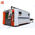 GOLDEN LASER | FULL CLOSED PALLET TABLE FIBER LASER METAL CUTTING MACHINE