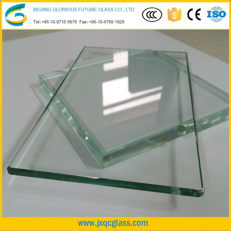 High quality 10-25mm thick clear tempered glass for modular homes building