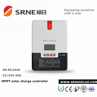 RS232 pc monitoring MPPT 40A solar charge controller
