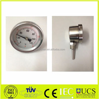 sanitary bimetal thermometer for food industry