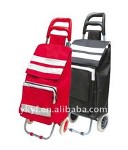 Smart shopping trolley bag with 2 wheels