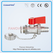 Drain ball valve,90 degree on/off lever operated