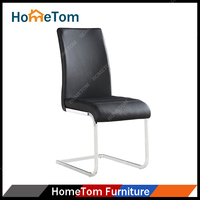 Best Selling White PU Leather Metal Chrome Bistro Chairs