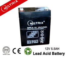 12V 5.5ah VRLA Battery sealed lead acid battery 12V 5.5AH for UPS and Security System
