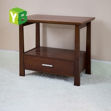Walnut Cheap Small Steady End Coffee Table Glossy Safe 60x60