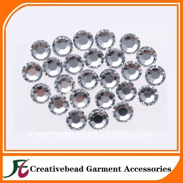 Wholesale round diamond shape acrylic transparent stone sew on