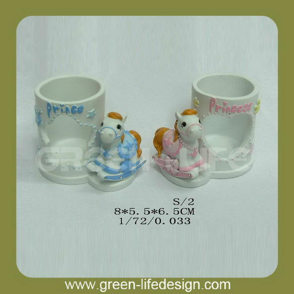 Cute tealight holder for baby birth souvenirs