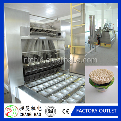 Circular box fried instant noodle making machine/cup noodle production line