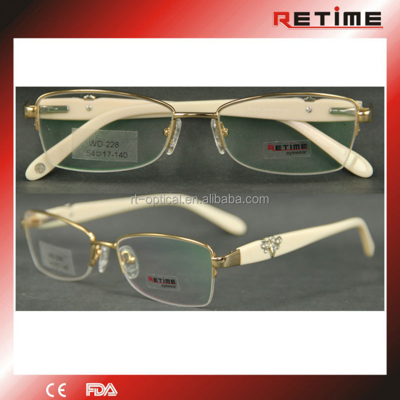 New model eyewear frame glasses eyeglasses frame italy designer with crystals(WD-228)