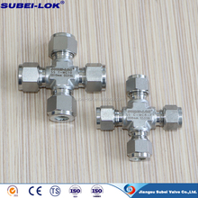 four way tee pipe fitting compression press gas line steel four port 4 way tee pipe fitting