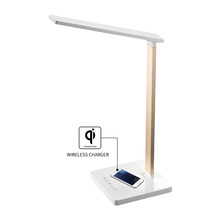 Luxury Touch Folding Portable Wireless Charge Desk Lamp For Book Reading
