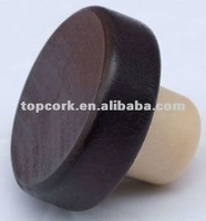 Wooden cap synthetic cork bottle stopper TBW24-50-20.6-15.2