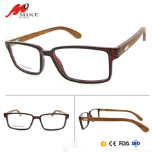 New tr90 brand name spectacle frames,latest trendy spectacles frame glasses,titan spectacle frame with wood temple