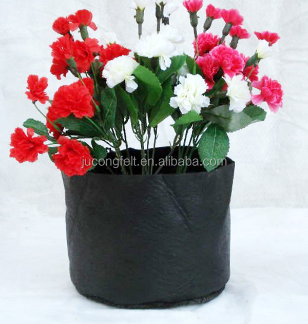 Black and White felt fabric plant grow bag/pot for plant,greenhouse